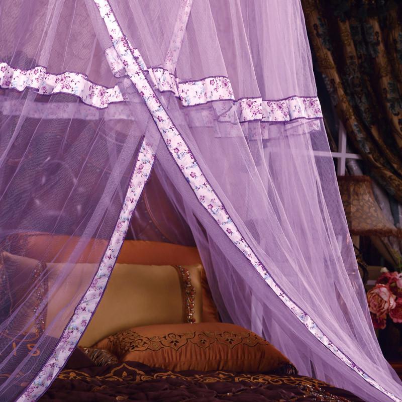 红霞刚铁丝吊挂圆顶蚊帐通用蚊帐