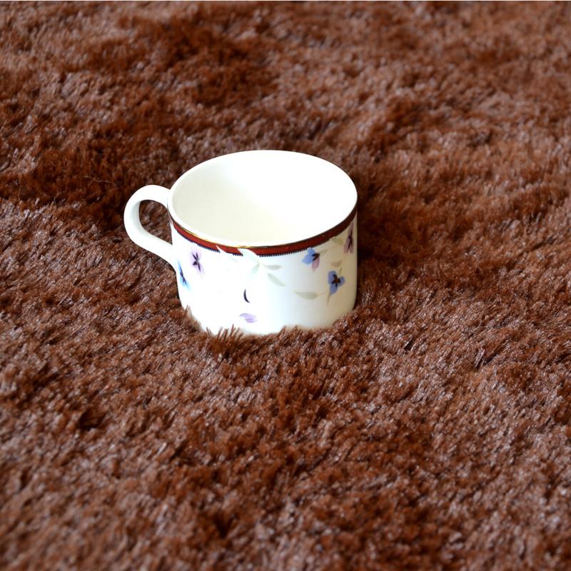 丽家家居混纺韩式纯色长方形日韩机器织造-地毯