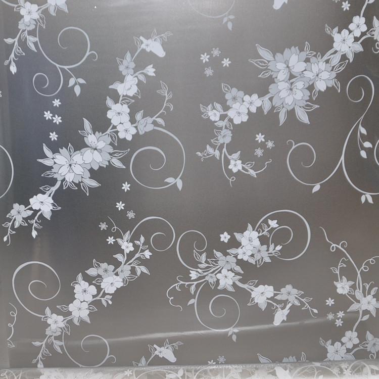 欧菲植物花卉玻璃贴膜