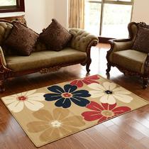 混纺简约现代植物花卉长方形中国风机器织造 xinmiqi130190地毯