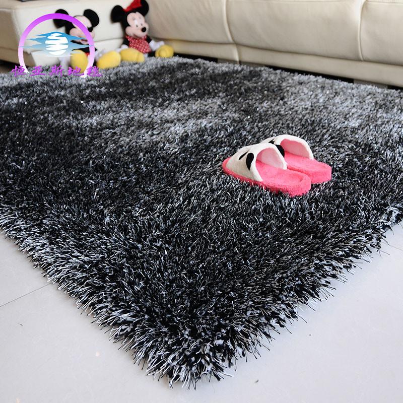 恒亞斯tanlisi地毯 化纖簡約現代滌綸純色長方形日韓機器織造 地毯