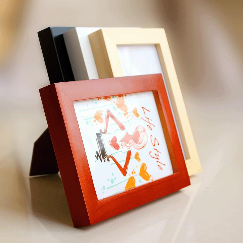 金零点白色原木色胡桃色黑色相框长方形简约现代相框