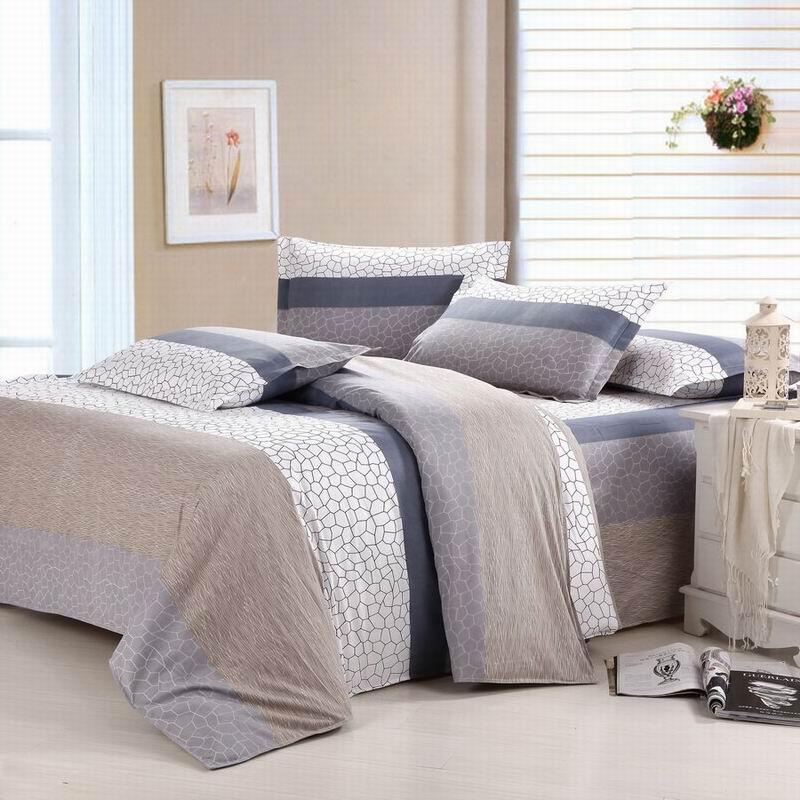 皇家皇朝 涤棉所有人群四件套床单式田园风格活性印花 爱情海床品件套四件套