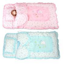 粉红色黄色天蓝色化纤 婴儿睡袋