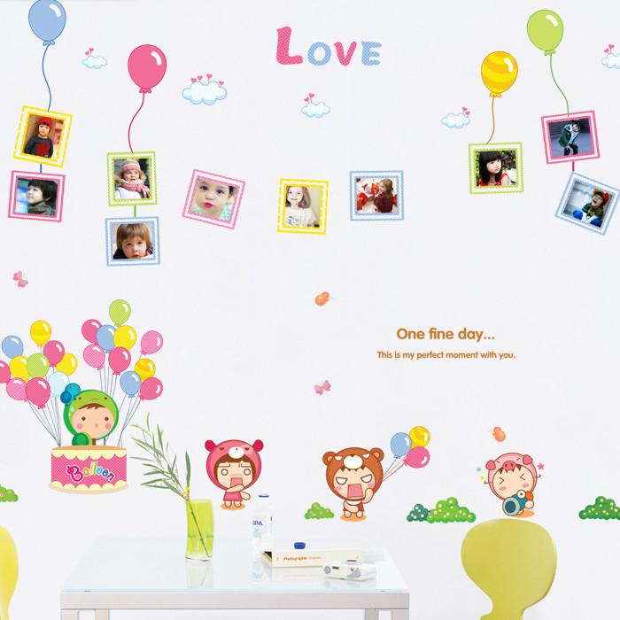 新贸 平面游乐园气球相片框墙贴卡通动漫 墙贴