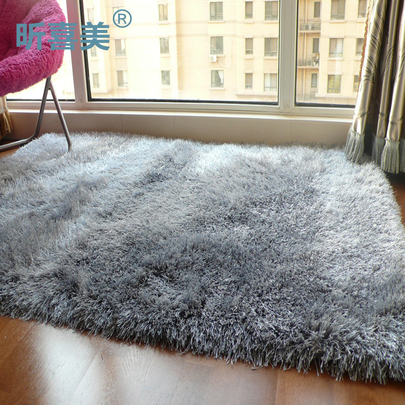 昕喜美化纤简约现代涤纶纯色长方形欧美机器织造-地毯