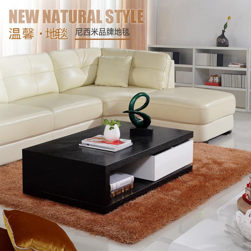 尼西米混纺简约现代纯色长方形欧美机器织造地毯