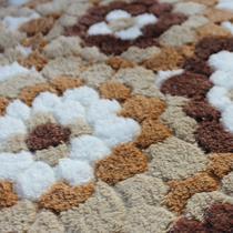 绒面门厅植物花卉简约现代机器织造 地垫