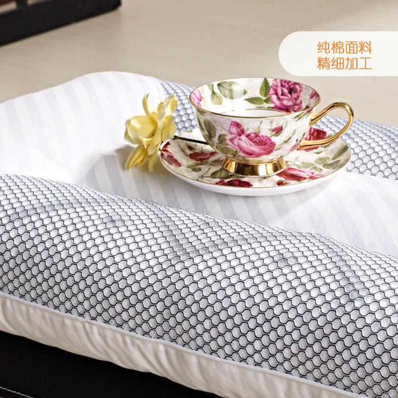 伴爱丝磁疗枕九孔枕贡缎棉布纤维枕长方形枕头