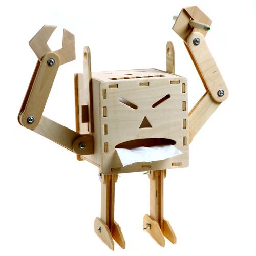 极客库囧机器人纸巾盒纸巾盒