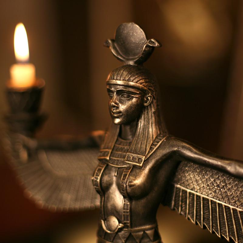 凯斯黛尔树脂枝形蜡烛欧式爱西斯女神烛台烛台