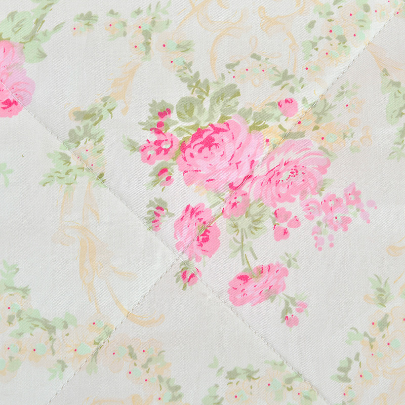 尚玉绗缝空调被夏凉被斜纹普通全棉化纤被子空调被