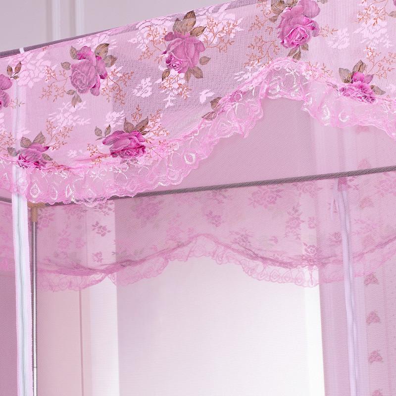 爵圣 白色米黃紫色粉色不銹鋼管蚊帳拉鏈方帳學生 蚊帳