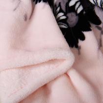 珊瑚绒毯春秋植物花卉欧式 毛毯