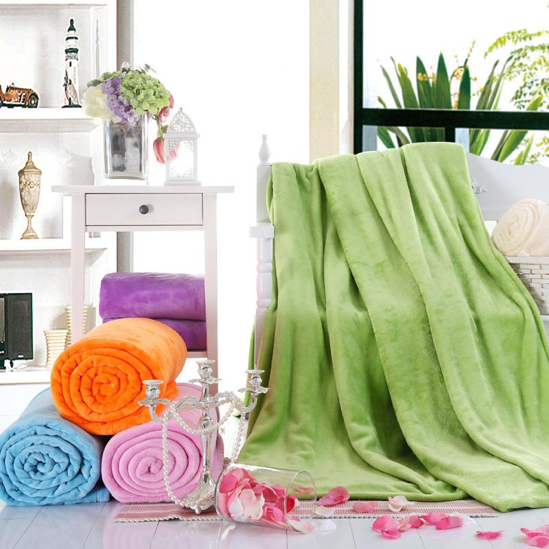 洛水天依 2%-3%珊瑚絨毯夏季純色簡約現代 毛毯