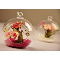 花瓶+彩沙+仿真花高硼硅耐热玻璃台面花瓶大号中号欧式 花瓶
