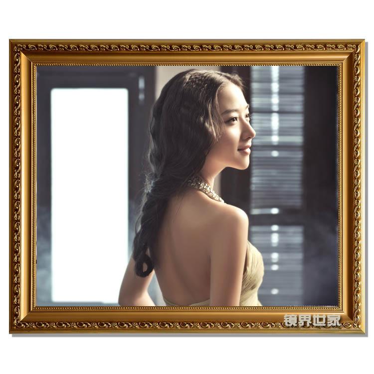 鏡界世家 珍珠金珍珠銀白色金色木相框長方形韓式 相框