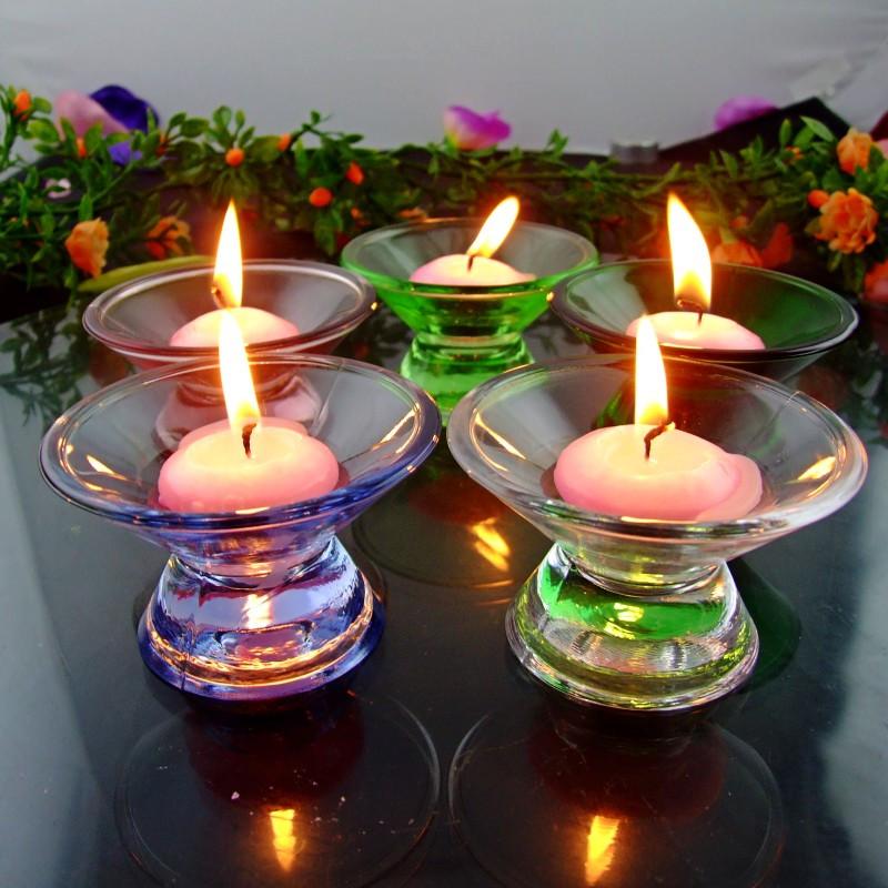 萬得福 玻璃塊狀蠟燭歐式 P183燭臺