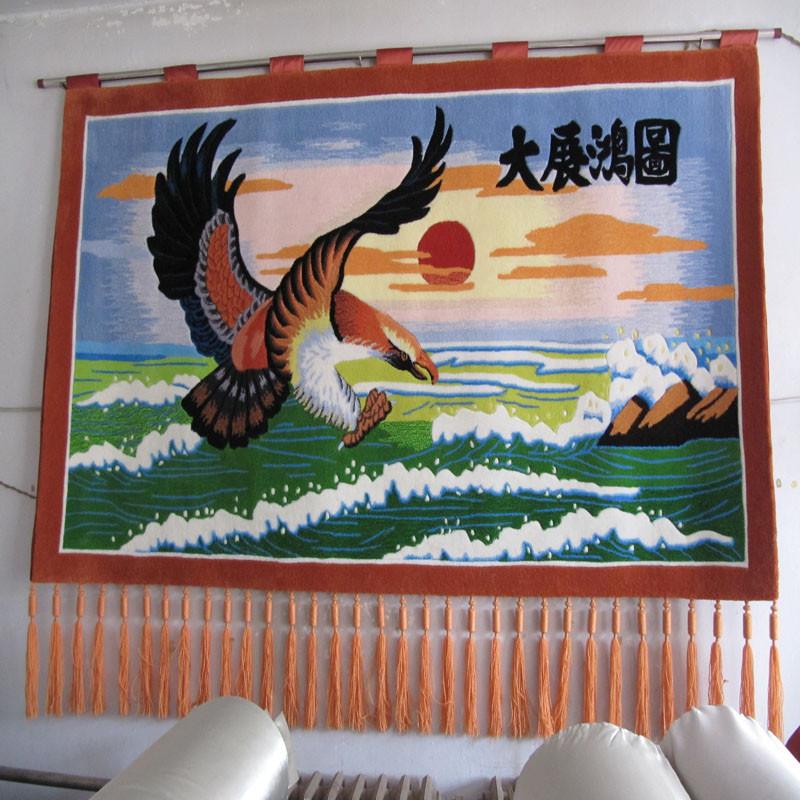 琪斯美 化纤手工gt-110挂毯长方形风景现代中式 挂毯