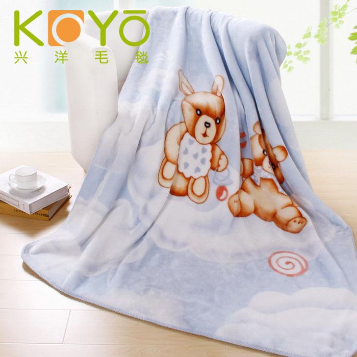 興洋 幸福云朵3%拉舍爾毛毯一等品冬季卡通動漫韓式 毛毯