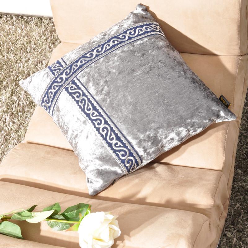 卡纳瑞毛绒靠垫套抱枕套纯色简约现代抱枕