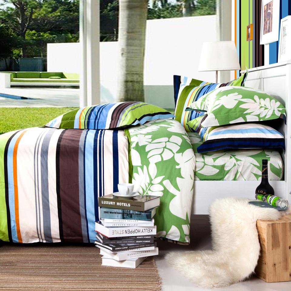 多喜愛 床笠款床單款簡約現代涂料印花條紋床單式簡約風 1102655床品件套四件套