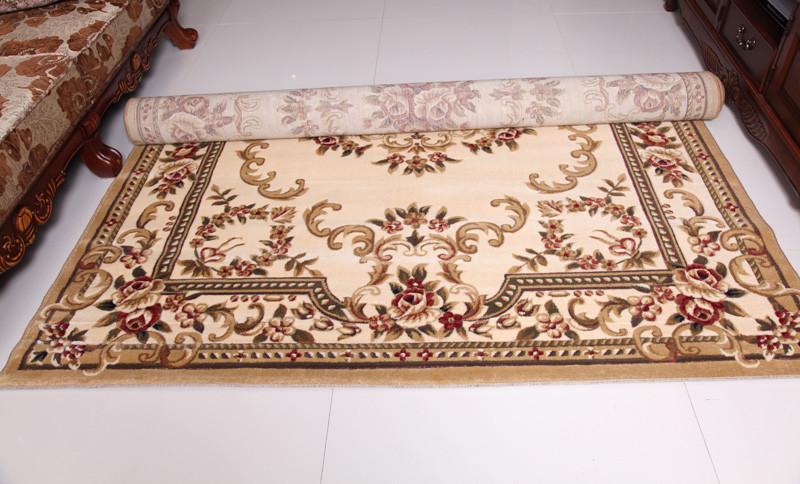 利多地毯 黃色紅色可手洗歐式植物花卉長方形歐美機器織造 地毯