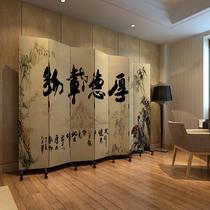 印花杉木面料工艺木质工艺胶合复合面料艺术现代中式 pf7-50屏风