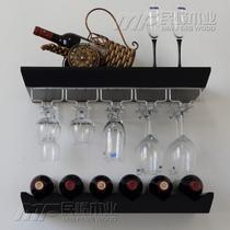 黑色白色涂饰密度板/纤维板人造板工艺支架结构悬挂韩式 酒架