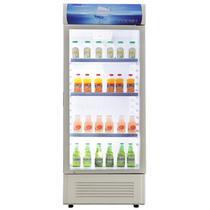 浅灰色冷藏41dB定频温带型(N)单门R600a直冷立式冰柜机械控温 冷柜