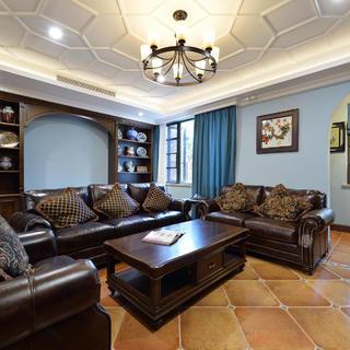 复古典雅美式别墅装修设计图