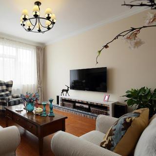 140平美式混搭三居装修设计图