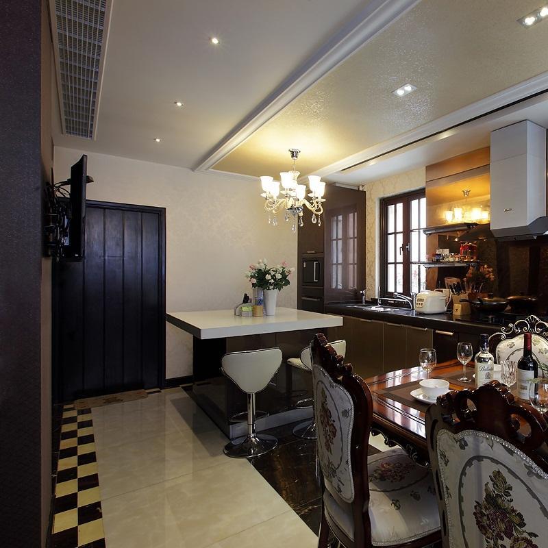華麗莊重美式別墅裝修廚房吊頂