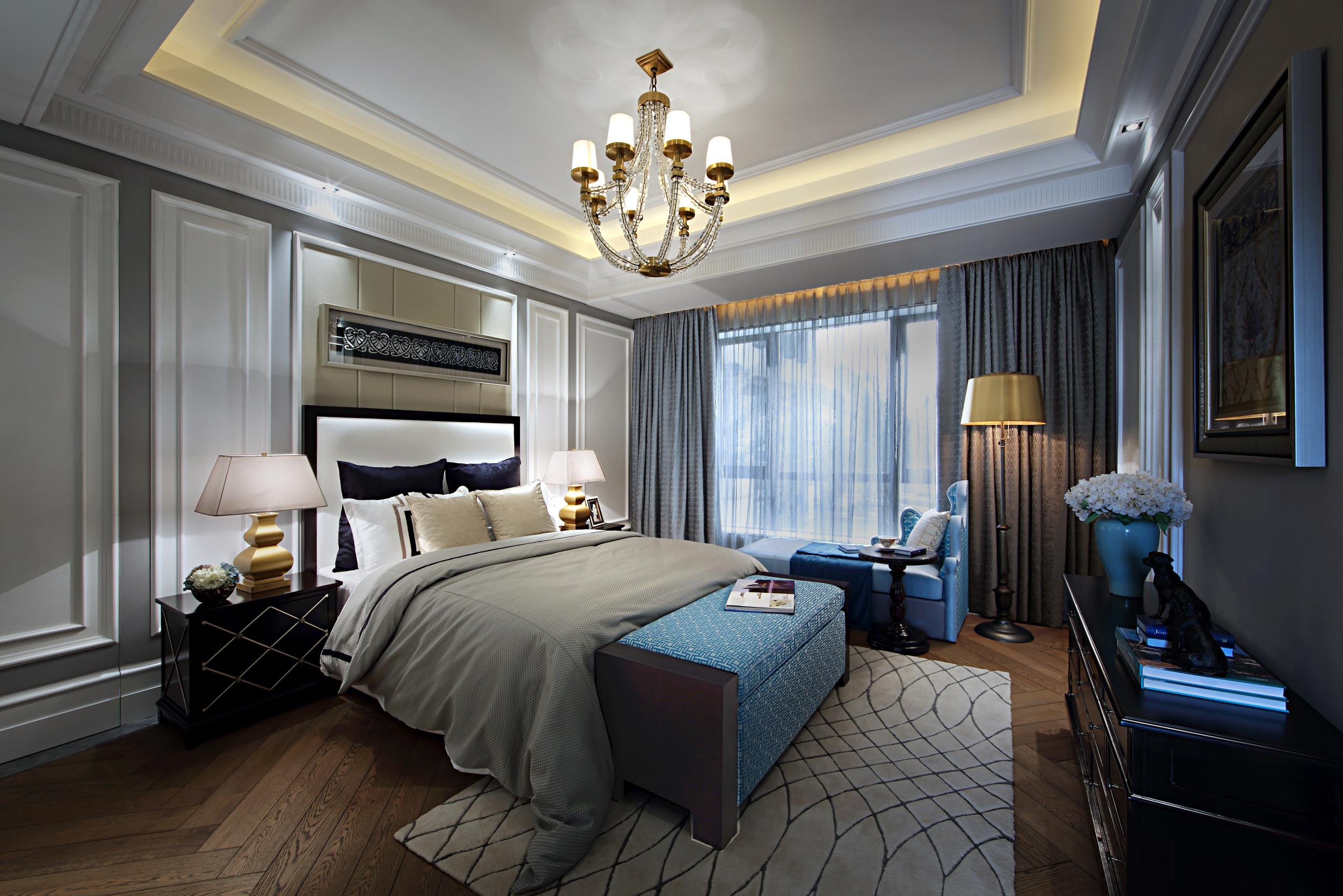 欧式风格公寓奢华豪华型厨房橱柜设计图纸