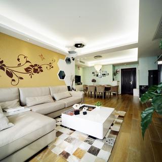 100平现代简约两居室装修图