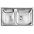 欧琳水槽 OLWG83460大双槽+OL7501龙头套餐 |【上海包邮送货入户】