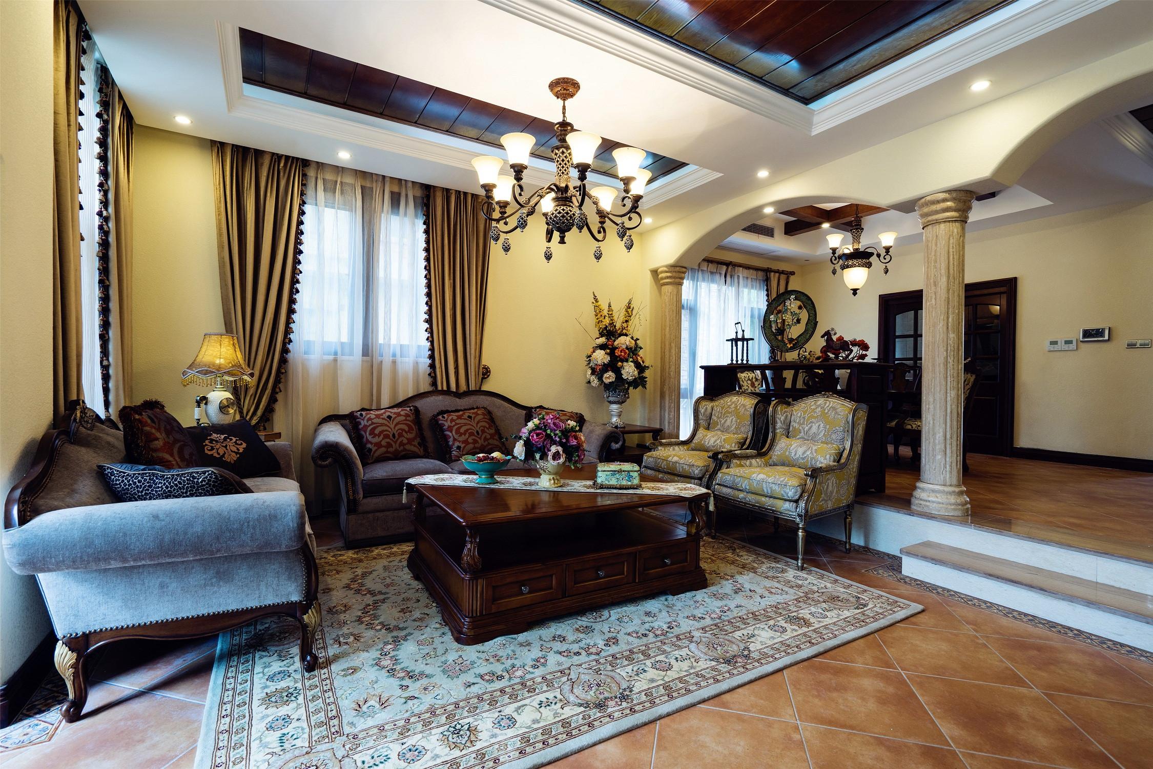 欧式风格别墅富裕型客厅沙发海外家居