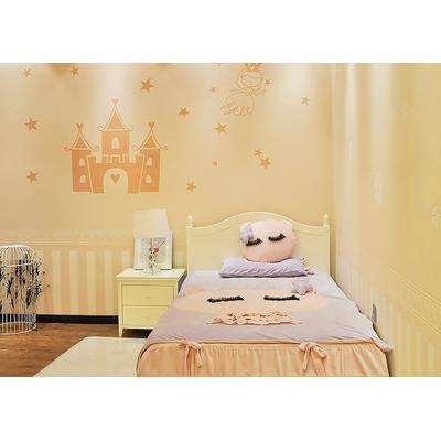 兰舍硅藻泥卧室背景墙硅藻泥城堡图画兰舍硅藻泥儿童房