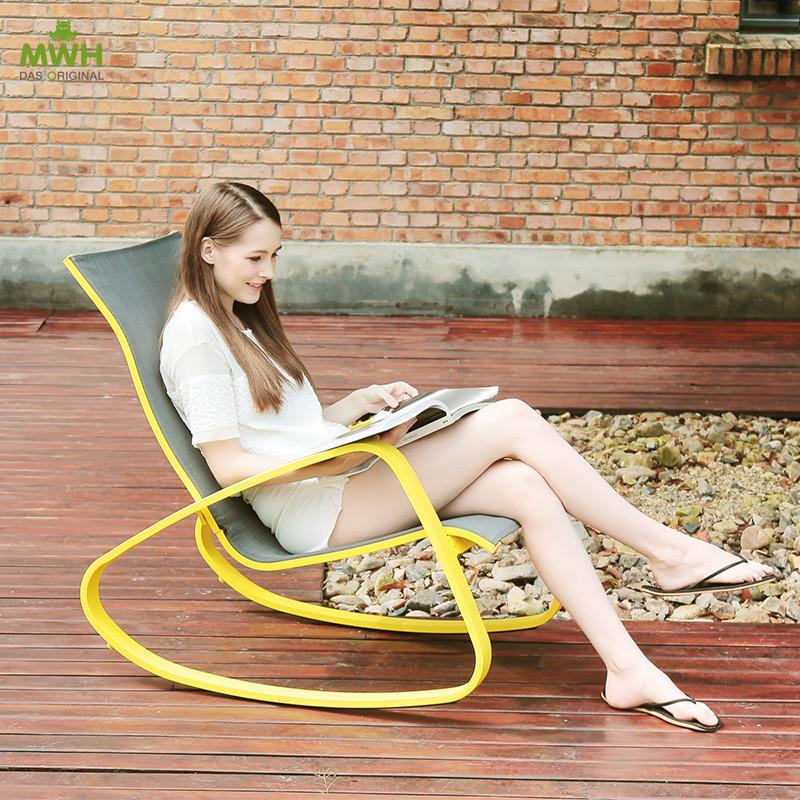 MWH现代休闲椅创意摇椅阳台时尚懒人椅躺椅新款FCA40105加29元送腰枕