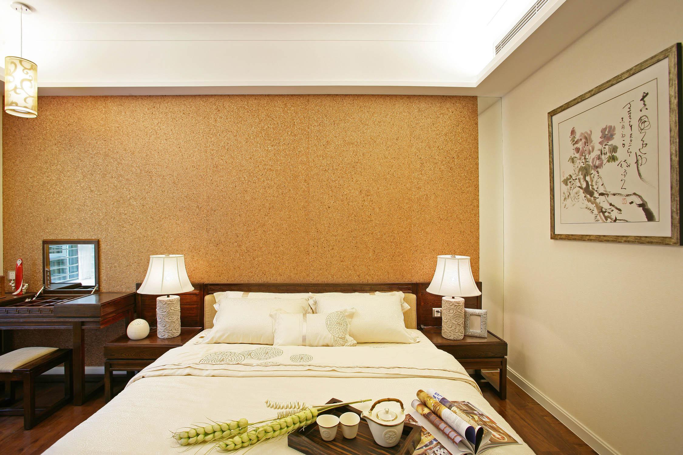卧室卧室背景墙壁纸效果图