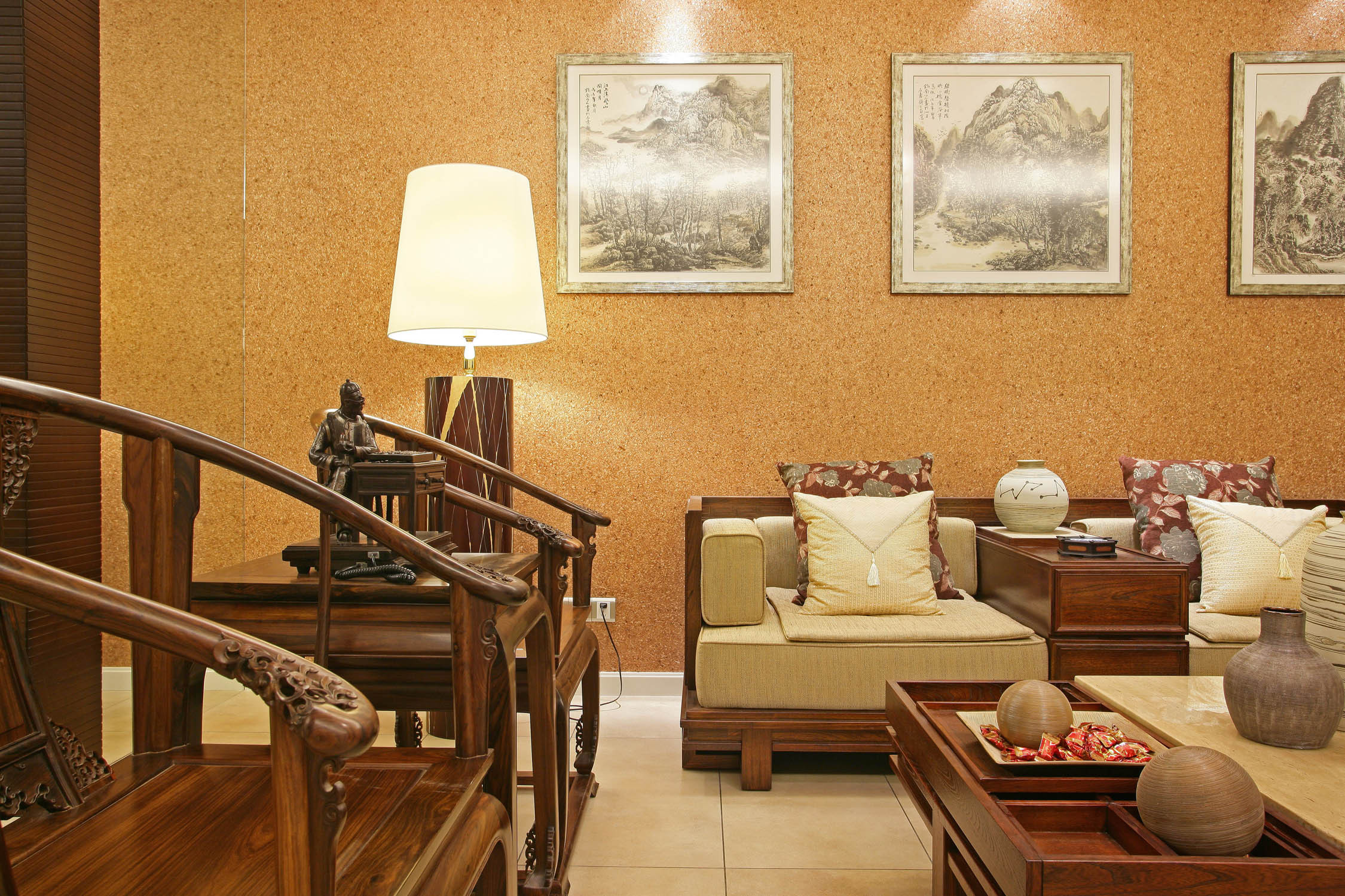 客厅沙发背景墙沙发效果图