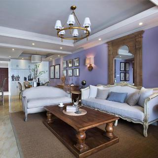 美式三居装修 紫色优雅空间
