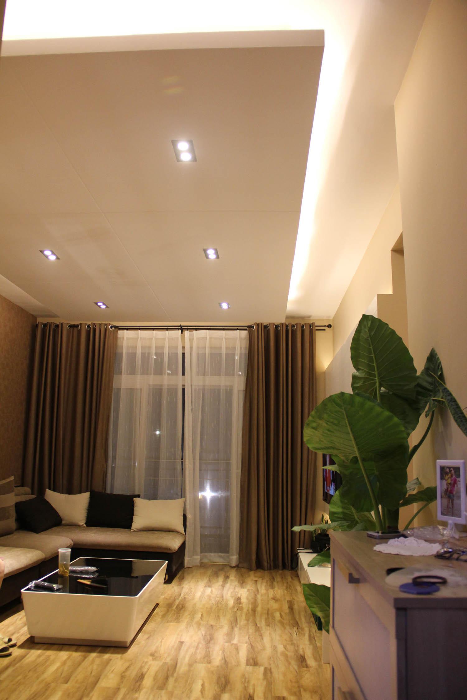 客厅吊顶窗帘图片