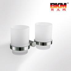 贝克玛卫浴 五金挂件 BKM-WJ0309GL 双杯 刷牙杯架 SUS304不锈钢|【SUS304不锈钢】厂家直销