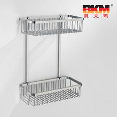 贝克玛卫浴 五金挂件 BKM-WJ0220GL 双层网篮 SUS304不锈钢 拉丝|【SUS304不锈钢】厂家直销