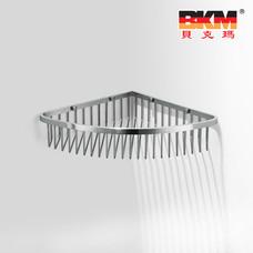 贝克玛卫浴五金挂件 BKM-WJ0120GL 单层转角网篮 SUS304不锈钢拉丝|【SUS304不锈钢】厂家直销