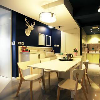 现代简约小户型设计 蓝白之家