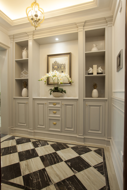 110平欧式风格装修门厅效果图