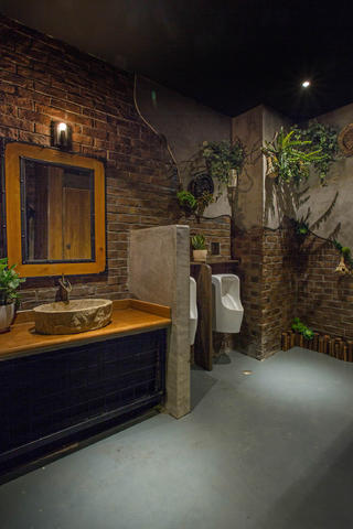 工业复古风咖啡厅装修沙发图片_齐家网装修效果图