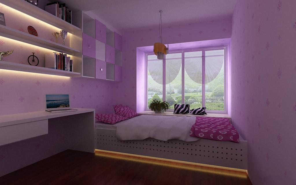 轻盈浪漫的公主房设计!家装热线:15500799269_装修小